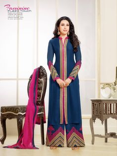 Karishma Kapoor Eliza Designer Semi Stitched Salwar Suit - http://member.bulkmart.in/product/karishma-kapoor-eliza-designer-semi-stitched-salwar-suit-18/