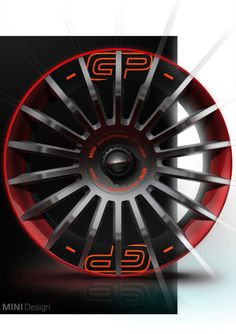 MINI John Cooper Works GP Concept Wheel Design Sketch Render - from the gallery: Automotive Exteriors - Wheels