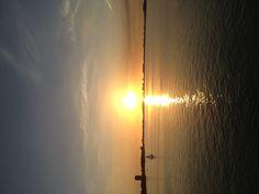 Sunset from the Ringling Bridge Sarasota , FL. 1/9/13