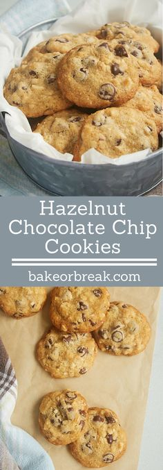 These Hazelnut Chocolate Chip Cookies are packed with plenty of chocolate chips, hazelnuts, and a special adults-only ingredients for some seriously amazing flavor. - Bake or Break ~ http://www.bakeorbreak.com