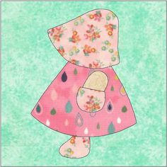 Sunbonnet Sue - Dutch Girl - PDF Download - Instant Download - Block Pattern - Quilt Pattern - Quilt Block - Block Pattern