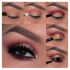 If you would like enhance your eyes and increase your good looks, using the best eye make-up tips will help. You want to make sure to wear make-up that makes you look even more beautiful than you are already. Pink Smokey Eye, Smokey Eye Makeup, Eyeshadow Makeup, Eyeshadow Palette, Neutral Eyeshadow, Makeup Brushes, Cream Eyeshadow, Glitter Eyeshadow, Eyebrow Makeup