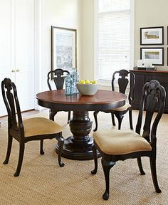 Macyu0027s Hand Painted 7 Piece Dining Set: Table, 4 Side Chairs And