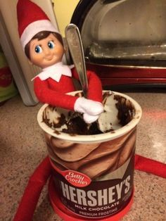 60 easy elf on the shelf ideas... Someday I'll be happy I pinned this!