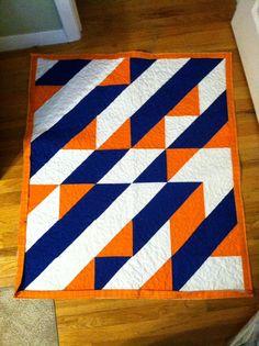 3 color geometric quilt....