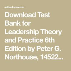 northouse leadership 8th edition ebook