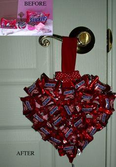 Candy Bar Heart Ornament