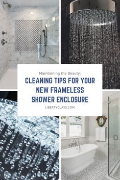 Congratulations on the purchase of your new frameless shower enclosure! The products listed below are recommended by the manufacturers to maintain the beauty and function of your new frameless shower enclosure.