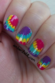 Amber did it!: More Tie Dye Nails AND a Tutorial