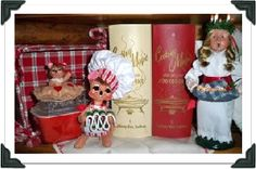 Love the idea of mixing the Annalee mouse with the old cookbooks! I may have to try this!