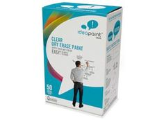 Idea Paint Clear Dry Erase Paint that goes clear on any color wall :)