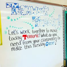 @lovin7th and I have our #teamworktuesday whiteboards ready to go for tomorrow…