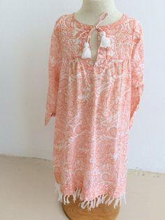 Surya cotton child's dress orange