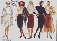 80s Vogue Basic Design Pattern 1780 Womens Straight by CloesCloset, $10.00