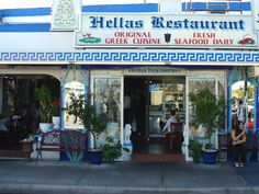 Authentic Greek Cuisine - and a wonderful bakery!  Hella's Restaurant ~ Tarpon Springs, FL.