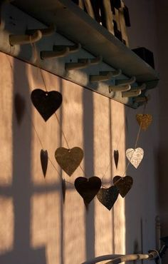 Earth toned heart garland