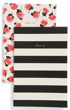 cute Kate Spade notebooks  http://rstyle.me/n/i6ucrpdpe
