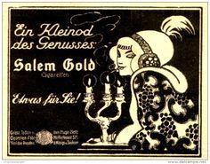 Original-Werbung/Anzeige 1912 - SALEM GOLD CIGARETTEN / YENIDZE DRESDEN - ca. 75 x 60 mm