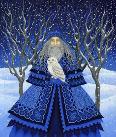 Diane Kremmer - Father Yule :) Father Winter*** going with the flow of the seasons* Christmas Candle, Father Christmas, Blue Christmas, Christmas Pictures, All Things Christmas, Winter Christmas, Christmas Time, Vintage Christmas, Christmas Crafts