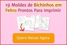 Bichinhos de feltro com molde grátis | Revista Artesanato