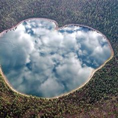 forest and lake with reflection of sky on the lake.  Gorgeous                                                                                                                                                                                 More