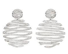 "Carla Amorim diamond ""Milky Way"" earrings from the Pantone Collection."