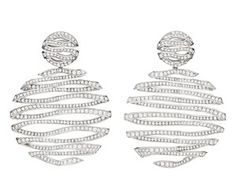 "Carla Amorim diamond ""Milky Way"" earrings from the Pantone Collection."