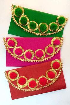 1 x Eid Money Wallets Gifting envelope Perfect for Eid Diwali Wedding Anniversary Birthdays Sagan Sh Fancy Envelopes, Handmade Envelopes, Wedding Envelopes, Cash Envelopes, Gift Envelope, Envelope Design, Wedding Gift Wrapping, Wedding Gifts, Desi Wedding