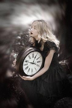 """Time� photo by Beata Polańska Wiccan, Magick, Witchcraft, Clock Art, Clocks, Dark Beauty Magazine, Clockwork Angel, Father Time, Goth Beauty"