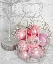 yes... I have this big white basket will look fabulous outside filled with plastic GOLD ornaments sitting at the base of the christmas tree..