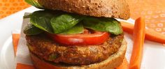 Come and get 'em! Veggie burgers packed with fiber-rich cereal are ready in less than 30 minutes.