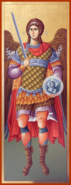 Greek Icons, Married With Children, Byzantine Icons, Archangel Michael, Orthodox Icons, St Michael, Religious Art, Art Reference, Saints