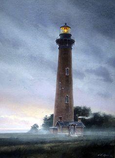 William Ryan. Currituck Light, NC. J. Russell Jinishian Gallery, Inc.