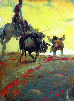 Jose Segrelles Albert,  Don Quixote and Sancho Panza    js3.jpg 436×600 pixels