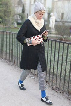 Bright socks for winter