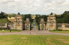 Forecourt - Harlaxton Manor, built in 1837, is a manor house located in Harlaxton, Lincolnshire, England. The manor currently serves as the British campus for the University of Evansville and partners with Eastern Illinois University and Western Kentucky University. Wikipedia | Photo by Richard Croft on geograph