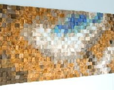 Bois récupéré wall Art mosaïque de bois art géométrique art