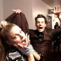 Pin for Later: Celebrity Candids You Don't Want to Miss This Week  Fergie and her husband, Josh Duhamel, got silly backstage during the AMAs.  Source: Instagram user fergie