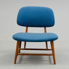 """TeVe"" chair (for watching TV?), by Alf Svensson, 1953, for Ljungs Industrier, Småland, Sweden. I frikkin love him."