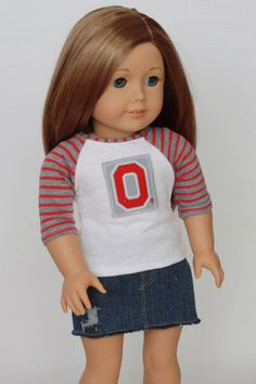 American Girl OSU Ohio State O Red Gray Baseball Tee 18 Inch by Closet4Chloe on Etsy https://www.etsy.com/listing/204414582/american-girl-osu-ohio-state-o-red-gray