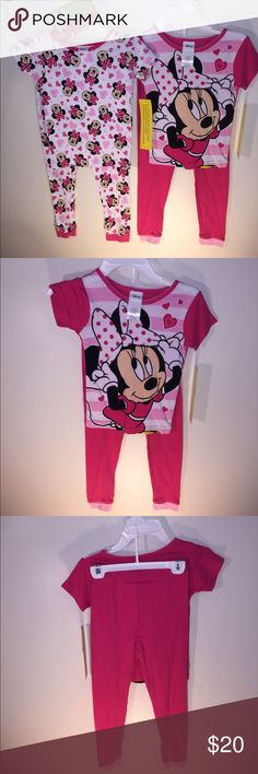 NEW Size 6 Minnie Mouse Pajama Bundle 2 Pair PJs NEW Size 6 Minnie Mouse Pajama Bundle 2 Pair Cotton PJs  Must Have for Disney Vacations 🌍 Disney Pajamas Pajama Sets
