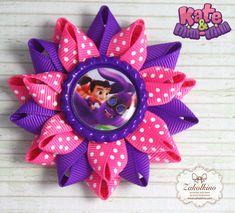 Kate and Mim Mim  Set of 2  Hot Pink Purple bows  by ZakolkinoCom