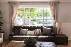 Living area with natural light - as featured on 'Rafterhouse' pilot episode on HGTV.