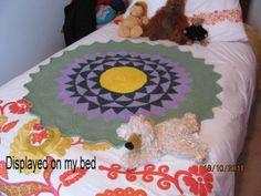 flat round tunisian entrelac rug