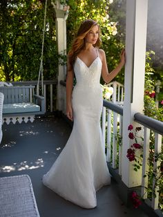 It's romance meets classy with a touch of sexy when it comes to Style Halo from Simply Val Stefani. This all lace mermaid wedding gown with spaghetti straps and sparkly sequins is a dream come true. Val Stefani Wedding Dresses, Bridal Dresses, Wedding Gowns, Boho Wedding, Lace Mermaid, Mermaid Wedding, Wedding Venue Inspiration, Wedding Ideas, Space Wedding