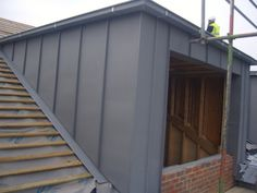 loft conversions Zinc Counters in Surrey - Eco Roofing Loft Dormer, Dormer Loft Conversion, Loft Conversions, Zinc Cladding, House Cladding, Loft Design, House Design, Zinc Roof, Copper Roof