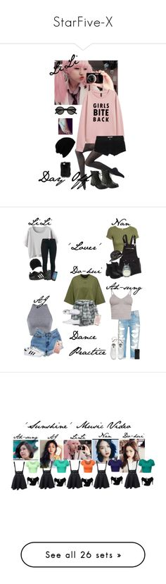 """""""StarFive-X"""" by lizz-ek ❤ liked on Polyvore featuring Wolford, Hollister Co., Yves Saint Laurent, KBETHOS, H&M, Levi's, BasicGrey, adidas, Vans and rag & bone"""