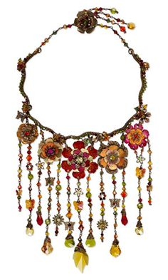 Bib-Style Necklace with SWAROVSKI ELEMENTS, Metal Components and Wirework - Fire Mountain Gems and Beads