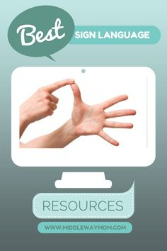 Best Sign Language Resources for Kids! - Middle Way Mom Sign Language Phrases, Sign Language Interpreter, Learn Sign Language, Speech Language Pathology, Speech And Language, Second Language, Foreign Language, Sign Language For Toddlers, Learn To Sign