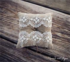 Mia  6x6 Wedding ring pillow  Wedding ring by HannahAspensbridal, $15.00
